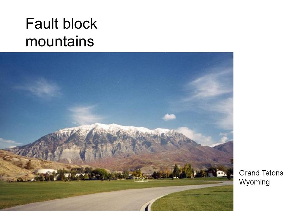 What are fault block mountains.