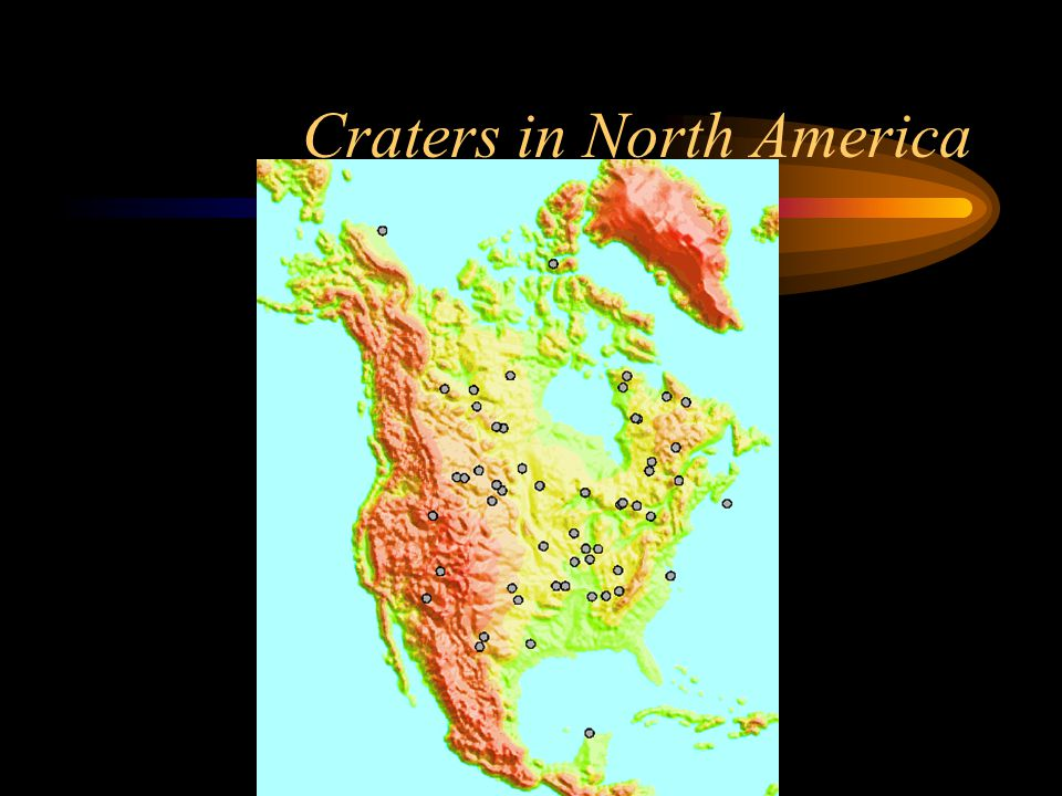 Craters in North America