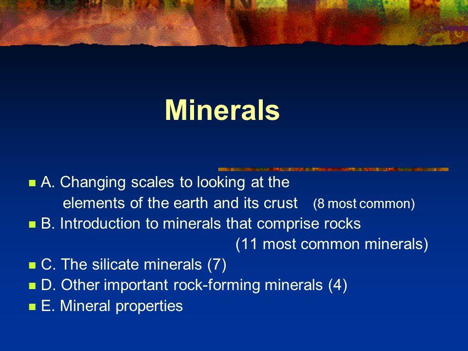 Minerals A.