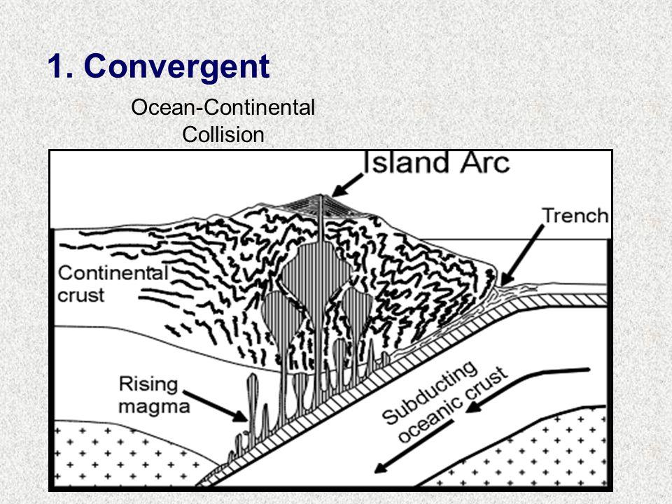 1. Convergent Ocean-Continental Collision