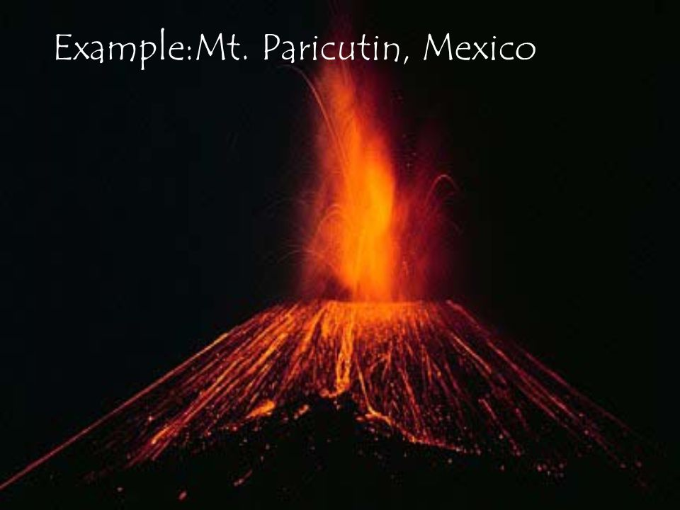 Example:Mt. Paricutin, Mexico