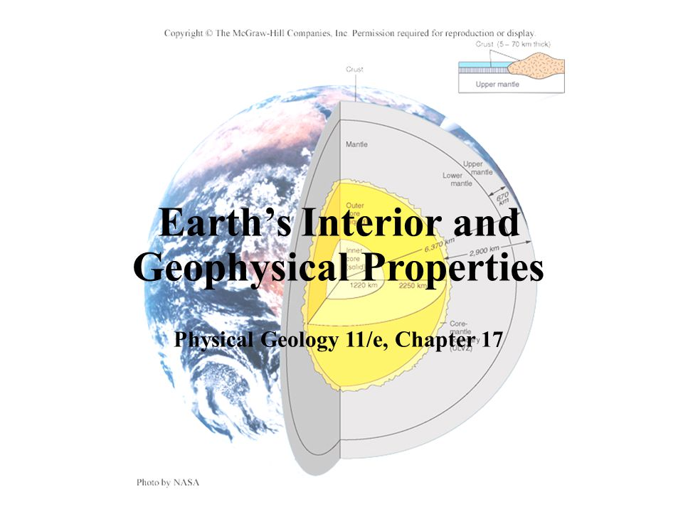 Earth's Interior and Geophysical Properties Physical Geology 11/e, Chapter 17