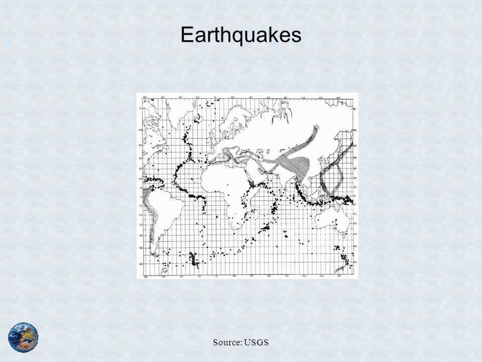 Earthquakes Source: USGS