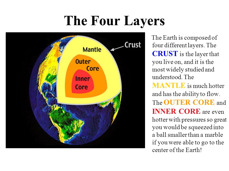 The Crust The Earth s Crust is like the skin of an apple or the shell on an egg.