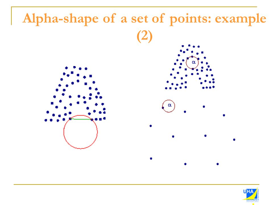 Alpha-shape of a set of points: example (2)