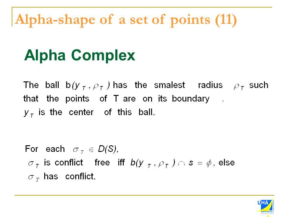 Alpha Complex Alpha-shape of a set of points (11)