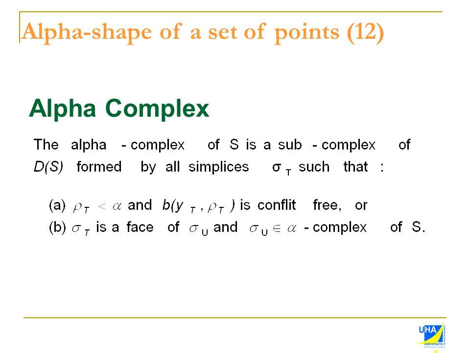 Alpha Complex Alpha-shape of a set of points (12)