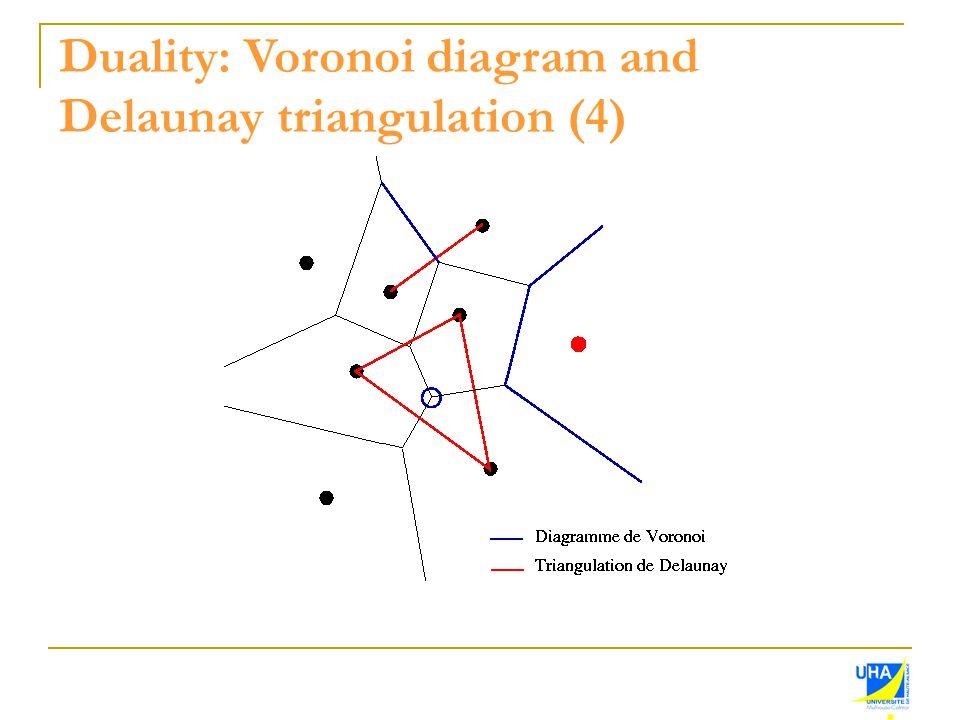 Duality: Voronoi diagram and Delaunay triangulation (4)