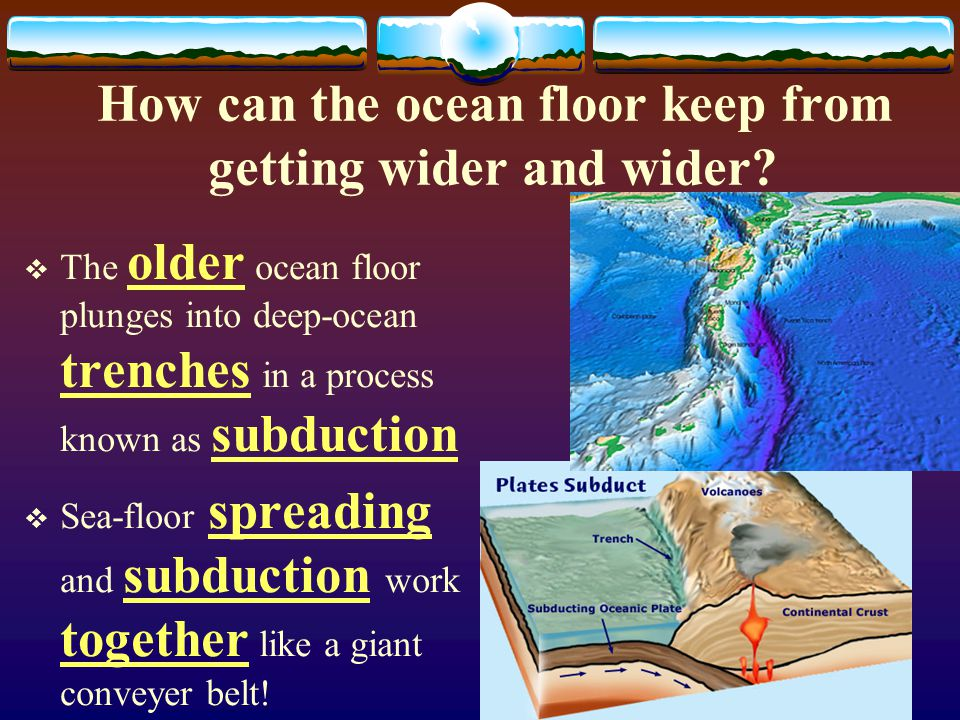 What is the evidence for Sea-floor spreading?  Evidence from Molten Material  Evidence from Magnetic Strips  Evidence from Drilling Samples