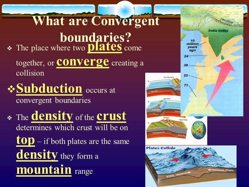 What are Divergent Boundaries?  The place where two plates move apart, or diverge and create a rift valley  Most occur at the mid- ocean ridge altho