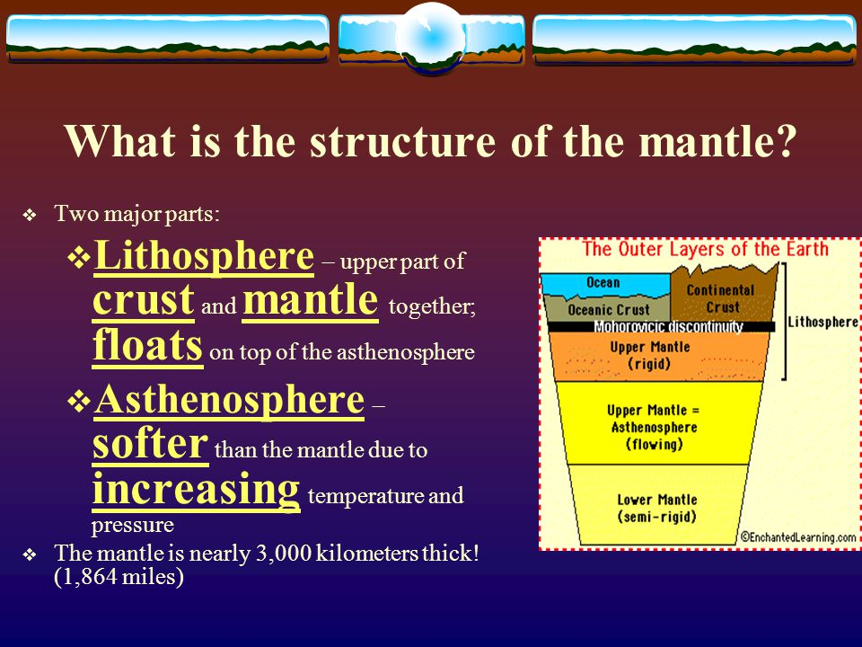 What is the structure of the mantle.