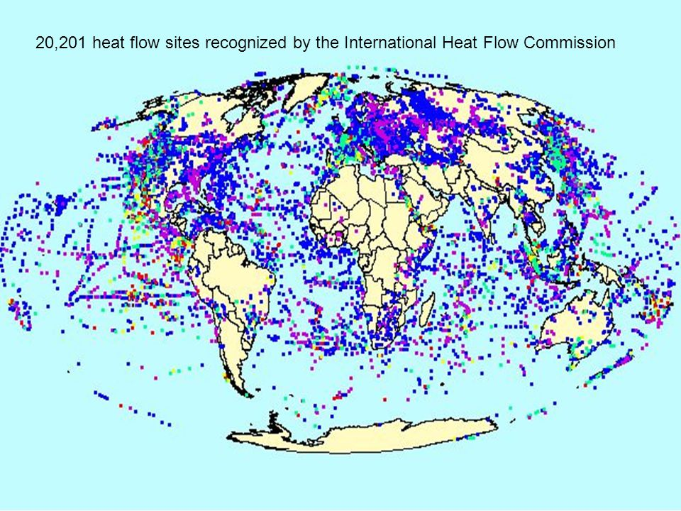 20,201 heat flow sites recognized by the International Heat Flow Commission