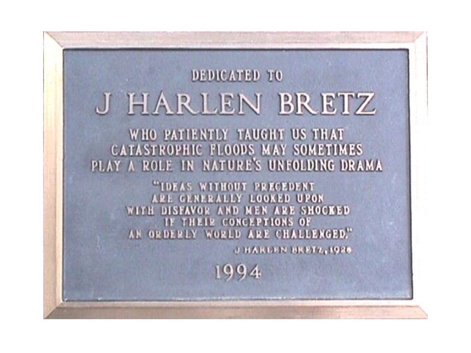 Bretz Dedication Placque Dry Falls Visitor Center