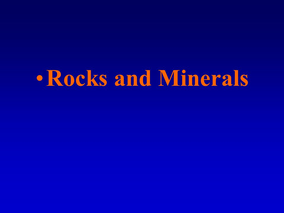 –Chemical sediments Another name for dissolved rock material.