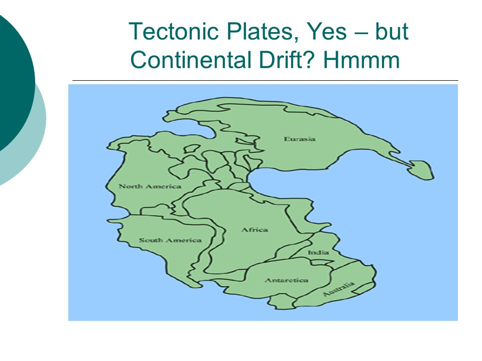 Tectonic Plates, Yes – but Continental Drift? Hmmm