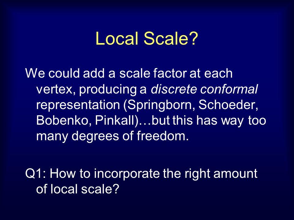 Local Scale.