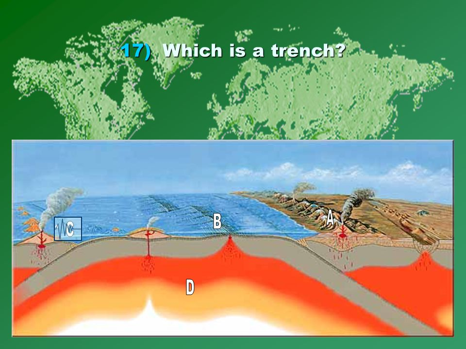 17)Which is a trench?
