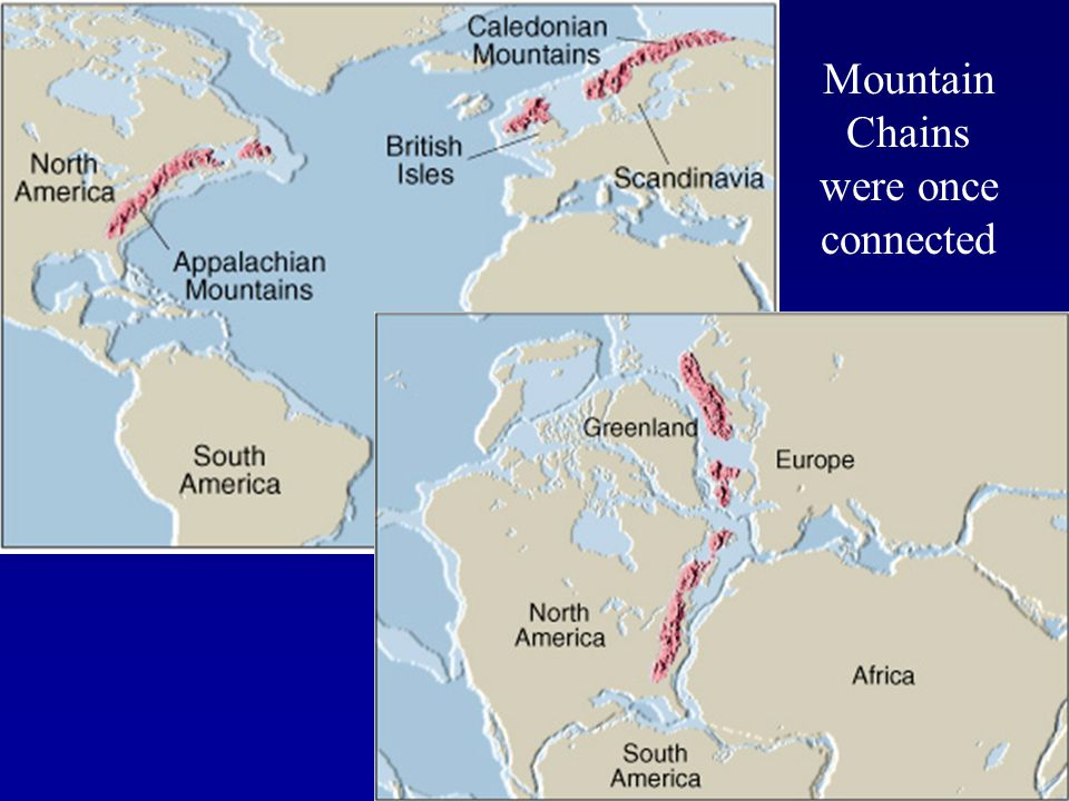 Mountain Chains were once connected