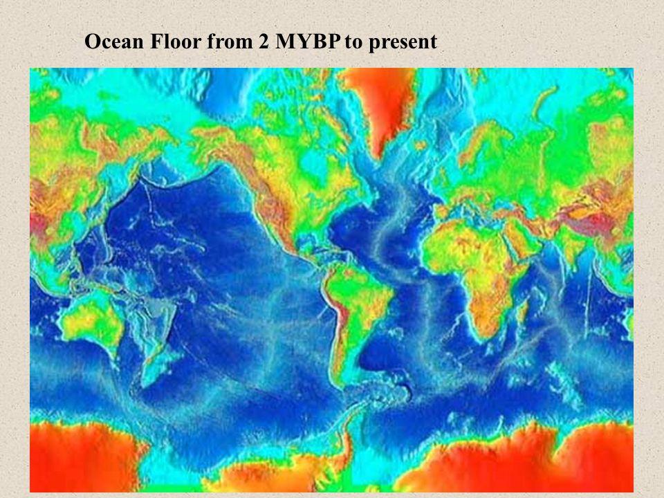Ocean Floor from 2 MYBP to present