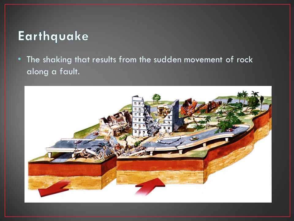 The shaking that results from the sudden movement of rock along a fault.