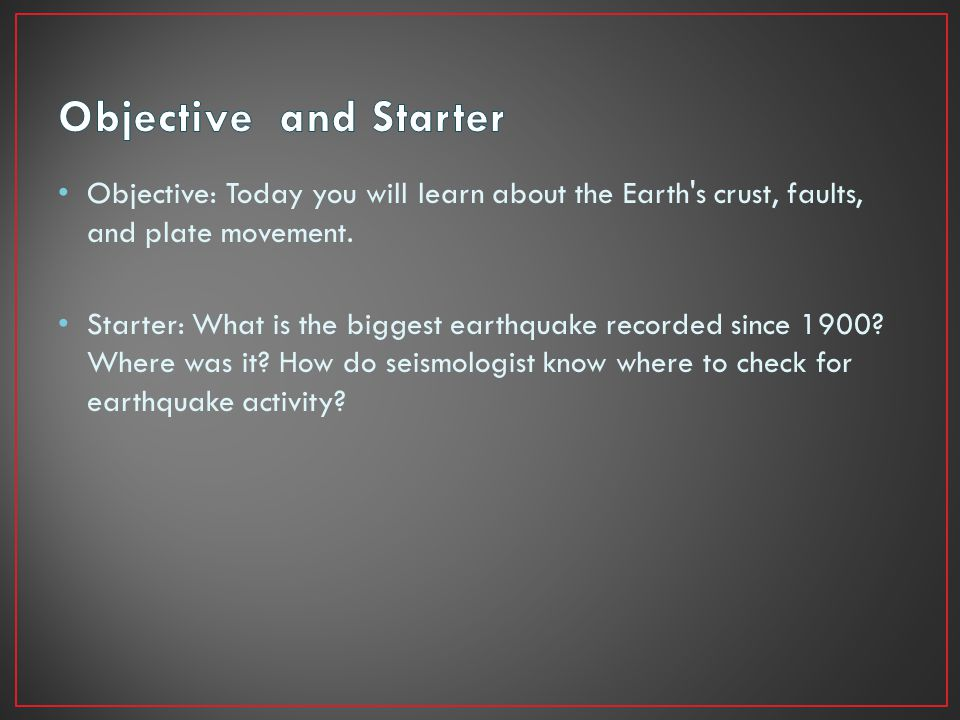 What have been your experiences with earthquakes?