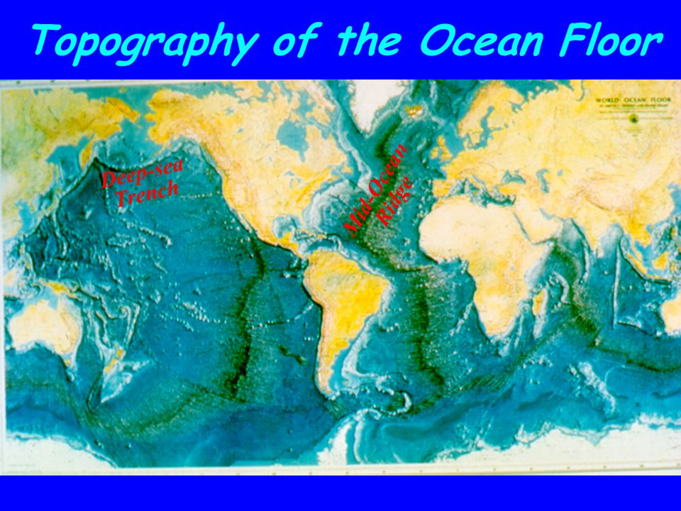 Mid-Ocean Ridge Deep-sea Trench Topography of the Ocean Floor