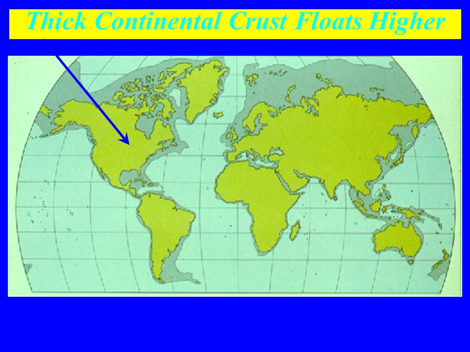 Thick Continental Crust Floats Higher