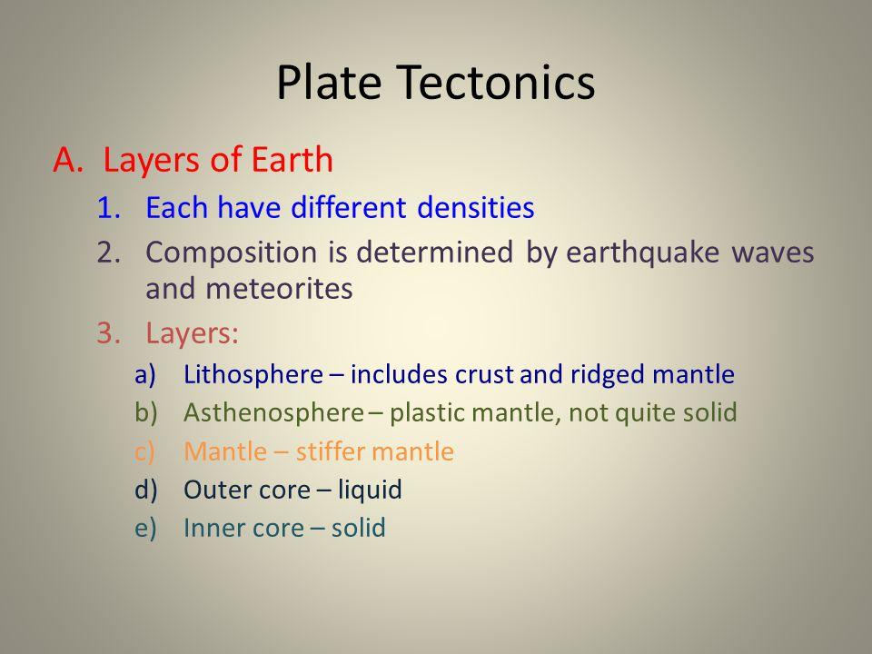 Plate Tectonics A.