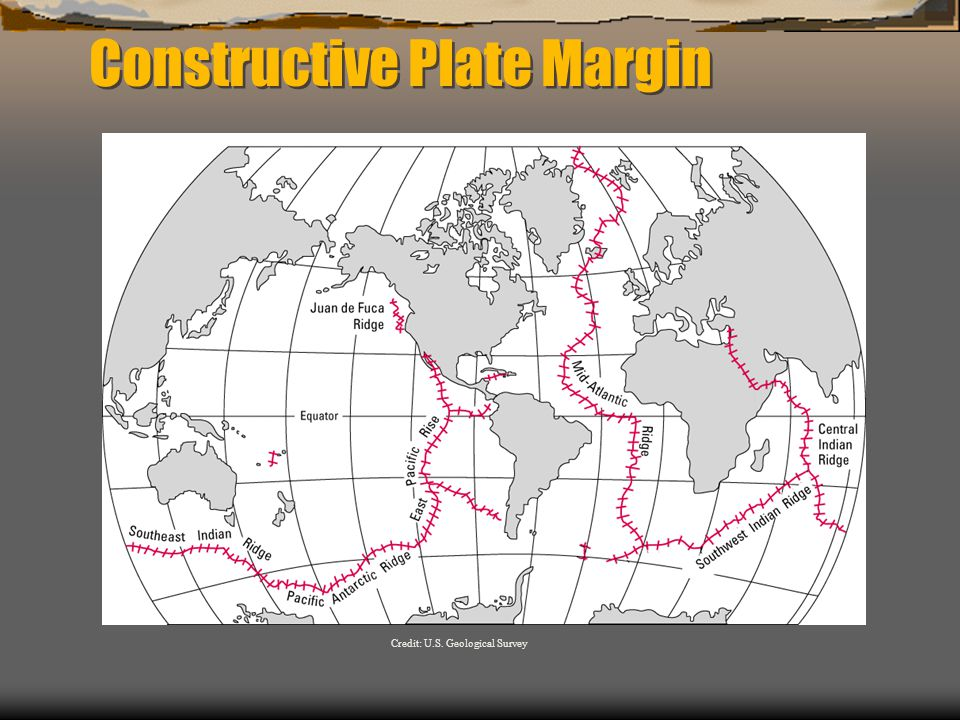 Constructive Plate Margin Credit: U.S. Geological Survey