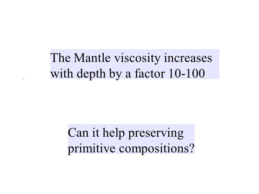 The Mantle viscosity increases with depth by a factor 10-100 Can it help preserving primitive compositions