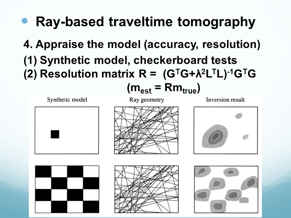 Ray-based traveltime tomography 4.