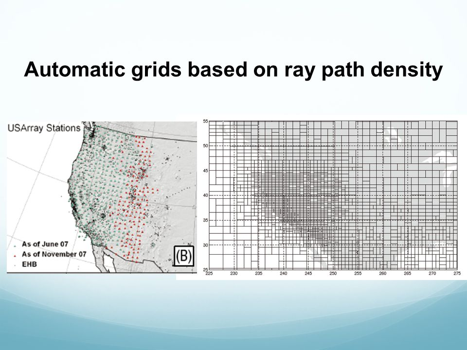 Automatic grids based on ray path density