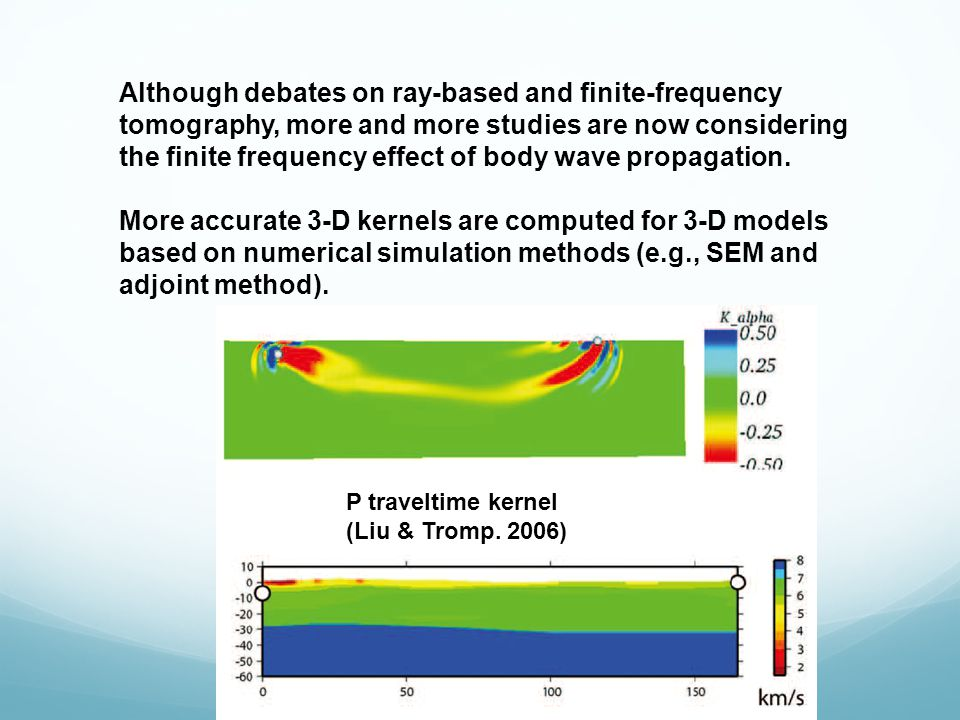 Although debates on ray-based and finite-frequency tomography, more and more studies are now considering the finite frequency effect of body wave propagation.