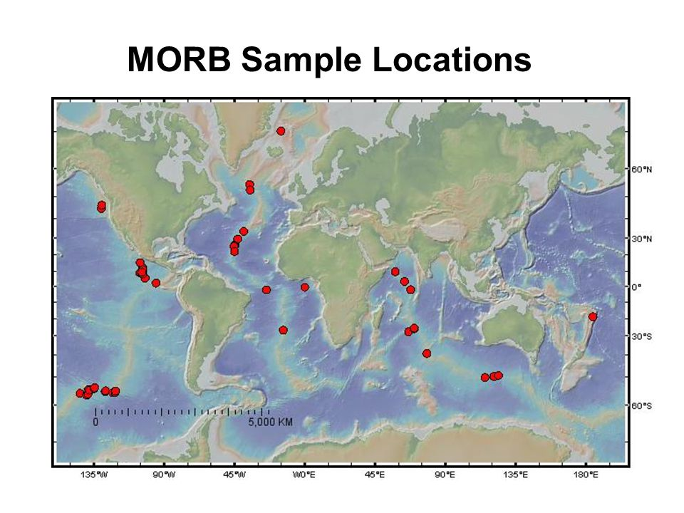 MORB Sample Locations