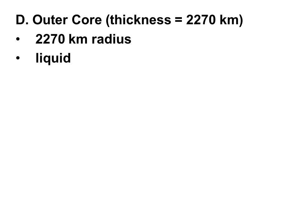 2270 km radius liquid