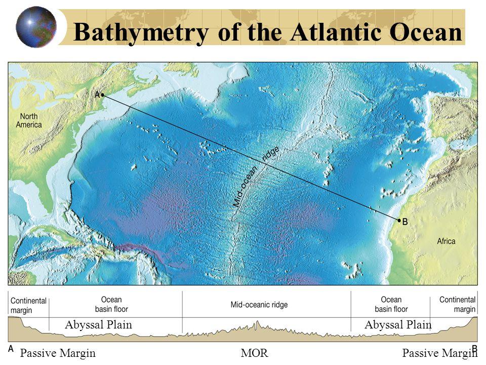Bathymetry of the Atlantic Ocean Abyssal Plain Passive Margin MOR Passive Margin