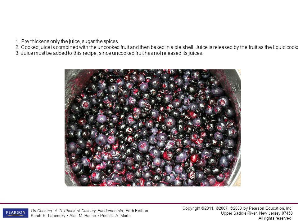 Copyright ©2011, ©2007, ©2003 by Pearson Education, Inc. Upper Saddle River, New Jersey 07458 All rights reserved. On Cooking: A Textbook of Culinary
