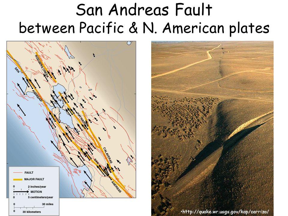 San Andreas Fault between Pacific & N. American plates http://quake.wr.usgs.gov/kap/carrizo/
