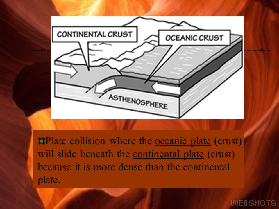Oceanic Plate Oceanic crust makes up 60 percent of the earth's solid surface. Oceanic crust is thin and dense. Oceanic crust averages between 5 and 10