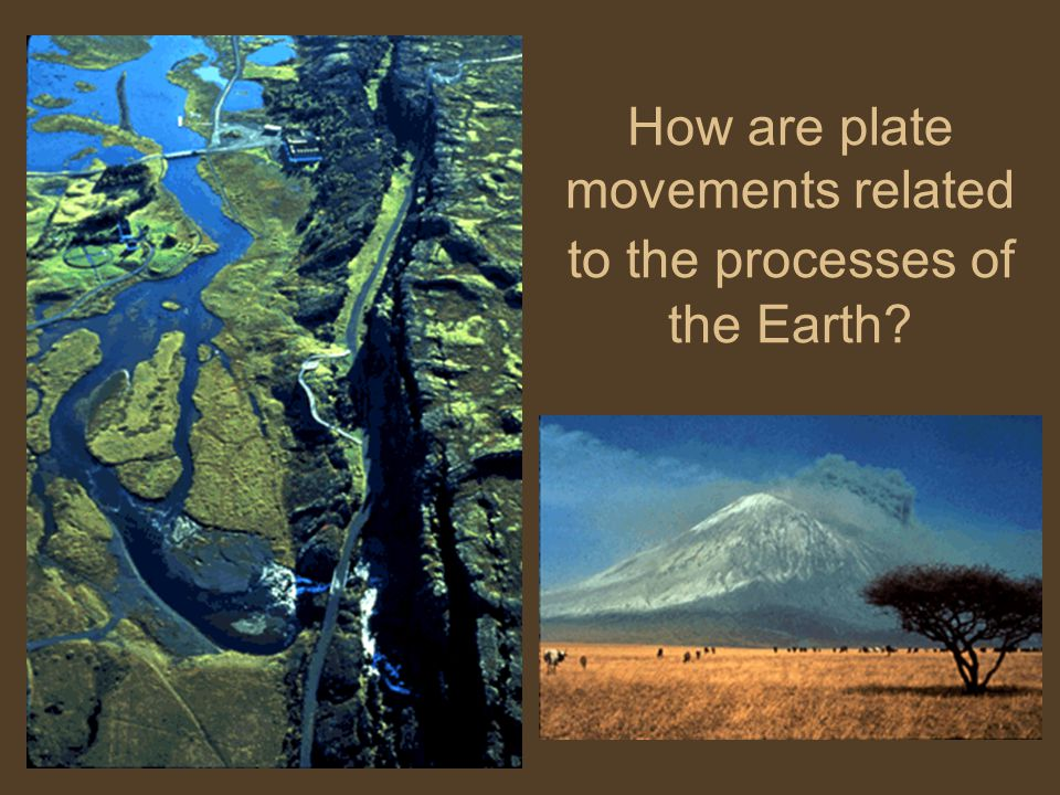 How are plate movements related to the processes of the Earth
