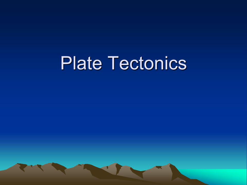 The Earth's Crust is Made of Plates
