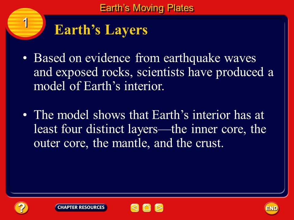 Certain rocks are found in different places on Earth's surface.