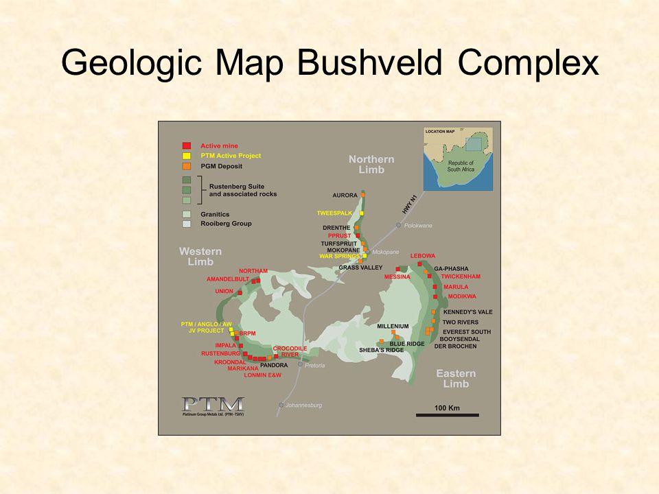 Geologic Map Bushveld Complex