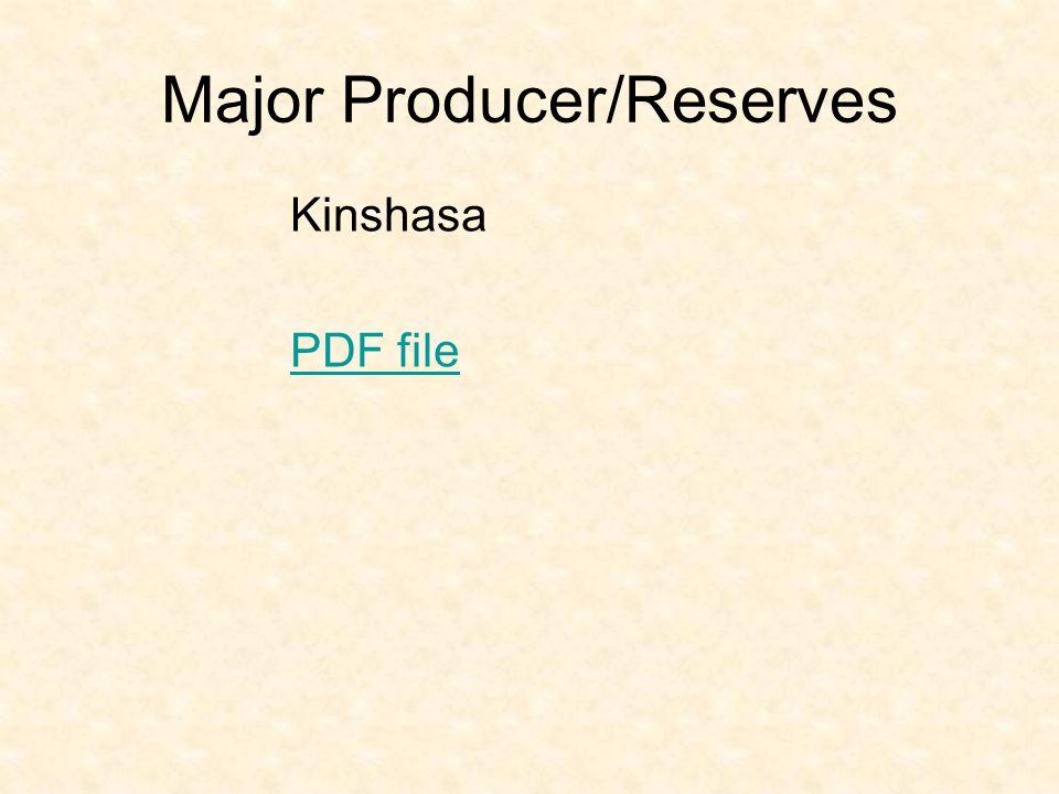 Major Producer/Reserves Kinshasa PDF file