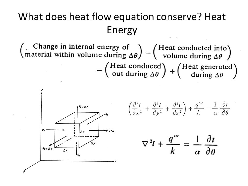 What does heat flow equation conserve? Heat Energy