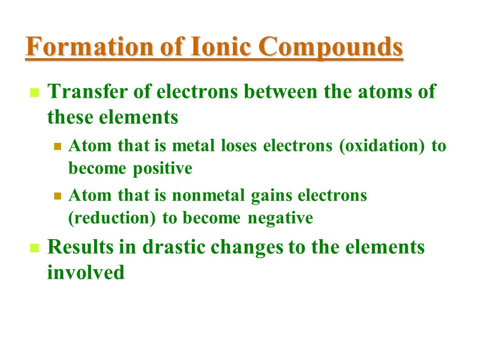 Ionic Compounds Structure Composed of oppositely-charged ions Network of ions held together by attraction Ionic bonds Forces of attraction between opp