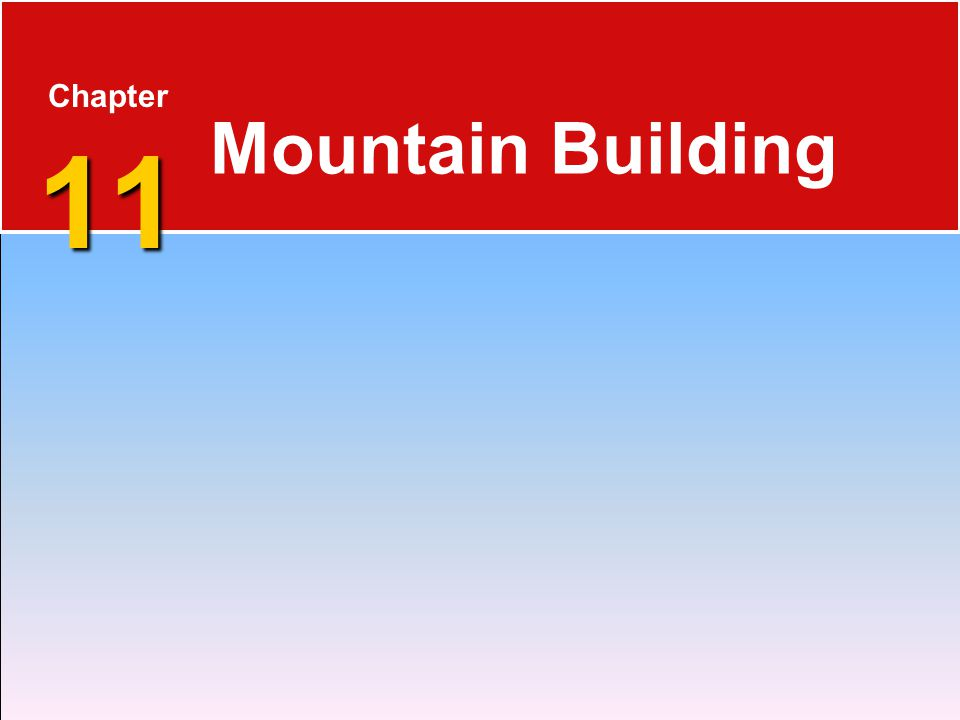 11 Chapter 11 Mountain Building