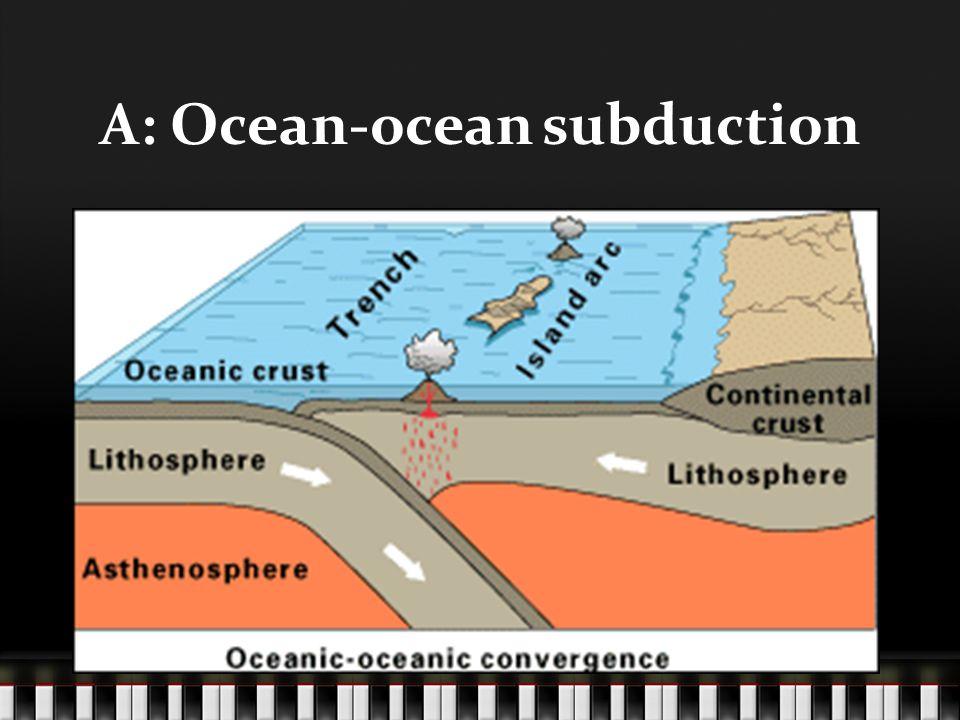 A: Ocean-ocean subduction PICTURE!