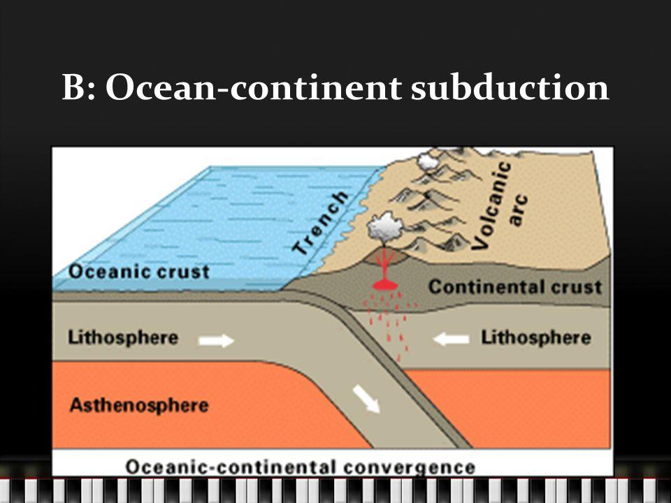 B: Ocean-continent subduction Picture!