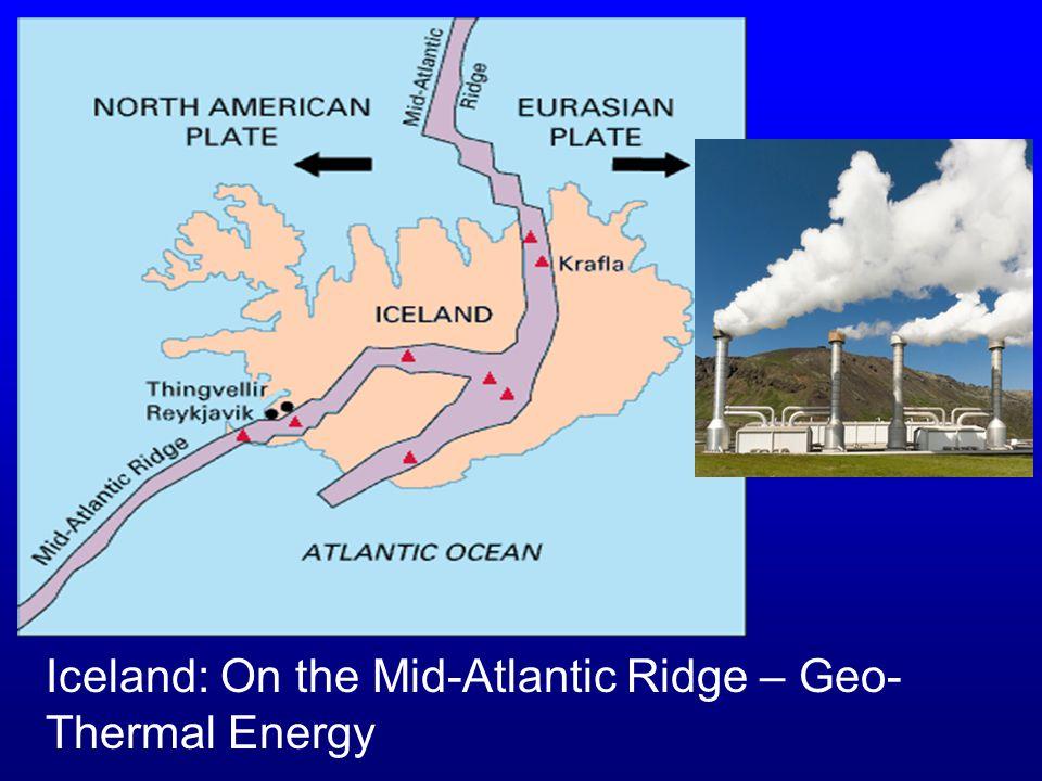 The Mid- Atlantic Ridge is a divergent zone.